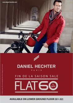 Flat 60% off in Daniel Hechter at Inorbit Whitefield. Do not miss the offer !!!