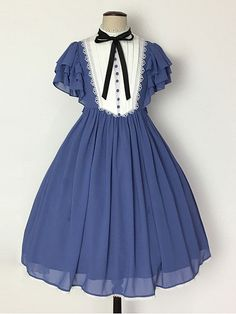 Unideer -Memory of Floria- Vintage Classic Lolita OP Dress,Lolita Dresses, Kawaii Fashion, Lolita Fashion, Cute Fashion, Rock Fashion, Emo Fashion, Pretty Outfits, Pretty Dresses, Beautiful Dresses, Kawaii Dress