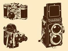 Retro Cameras Set