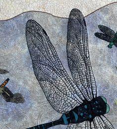 Fiber Art Wall Quilt, Dragonfly Quilt, Wall Hanging. $1,000.00, via Etsy.