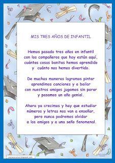 poesias de graduación infantil - Buscar con Google
