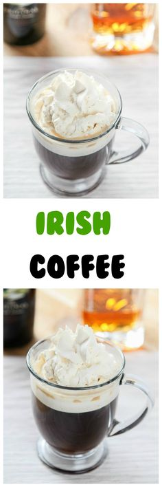 Irish Coffee Recipe: Spiked coffee topped with a super light Baileys Whipped Cream. This boozy coffee couldn't be easier with only 5 ingredients.