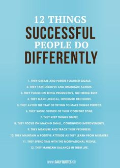 12 habits of successful people