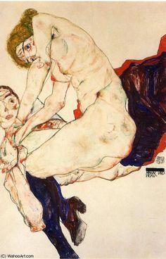 Untitled (8429) de Egon Schiele (1890-1918, Croatia)