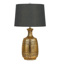 Lmpara de mesa turquesa azul coppel lamapara pinterest mesa estrella greygold tone ceramic table lamp table lamp aloadofball Gallery