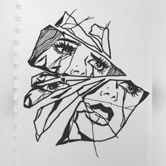 Drawing piece of art piirtämisideat, tatuointi, piirtäminen. Art Inspo, Kunst Inspo, Art And Illustration, Art Pop, Drawing Sketches, Art Drawings, Tattoo Sketches, Cool Tattoo Drawings, Broken Drawings