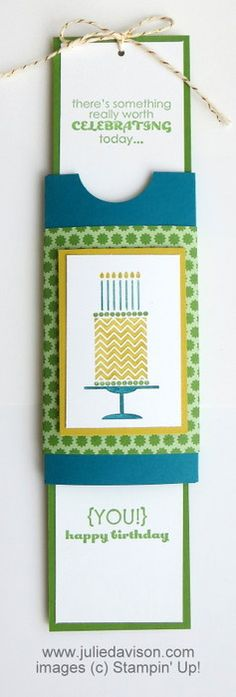VIDEO & PDF tutorials for Double Slider Card #stampinup www.juliedavison.com