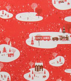 Lucky Winter Wonderland Gift Wrap from Luxe Paperie - saving this for Christmas, I love it so. Vintage Christmas Wrapping Paper, Christmas Gift Wrapping, Christmas Paper, Retro Christmas, Vintage Holiday, Vintage Paper, Paper Wrapping, Christmas Time, Christmas Ideas