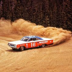 """1963 Pikes Peak Hill Climb - The horsepower race was on in the 1960's, and the adage """"Race on Sunday, sell on Monday"""" was the game in Detroit. Mercury exec's wanted to play, and convinced the management at Ford to build a car for the Pikes Peak Hill Climb. The legendary Narcar vehicle fabricator Bill Stroppe built a 427 cid 500 hp Mercury Marauder USAC Stock car for Parnelli Jones, who won the 1963 Pikes Peak International Hill Climb, and broke the stock car record."""