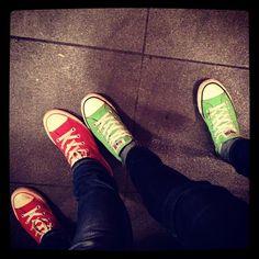 Apple-coloured Converse