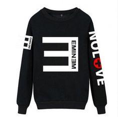 Eminem no love sweatshirt XXXL cheap crew neck sweatshirts