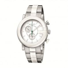 593518e09fe Gucci Women s YA101345 G Chrono White Matte Painted Dial Watch Gucci Watch