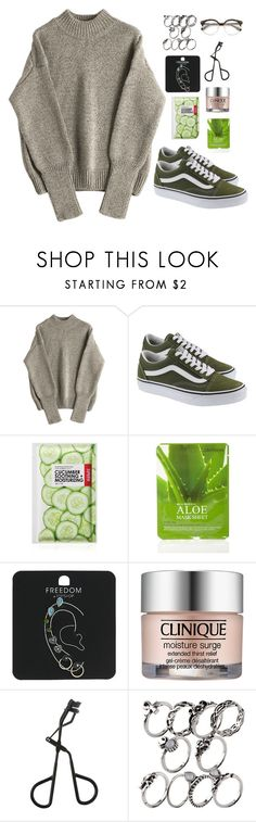 """""""Untitled #517"""" by maria143sara ❤ liked on Polyvore featuring Vans, Forever 21, Topshop and Clinique"""