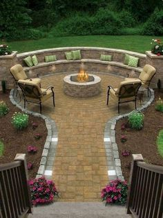 Diy backyard patio with fire pit outdoor fire pit and seating area and he can build . diy backyard patio with fire pit Backyard Seating, Backyard Patio Designs, Fire Pit Backyard, Pergola Patio, Patio Ideas, Landscaping Ideas, Firepit Ideas, Pergola Kits, Pergola Ideas