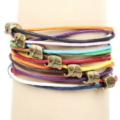 Fashion Lady Retro Elephant Beads Metal Leather Colorful Weave Bracelet Strands Bracelet Suede Rope Bracelet Gift Whatland,http://www.amazon.com/dp/B00J3MGI9I/ref=cm_sw_r_pi_dp_ubLEtb14PH8ATXSV
