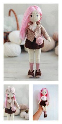 Amigurumi Little Baby Free English Pattern – Amigurumi Knitted Dolls Free, Doll Amigurumi Free Pattern, Crochet Dolls Free Patterns, Crochet Doll Pattern, Doll Patterns, Amigurumi Toys, Crochet Vs Knit, Crochet Case, Knitting Dolls Clothes