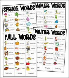 Seasonal Words FREEBIE