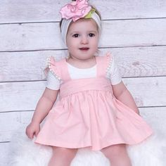 Pastel Pink Dress for Toddler Girls