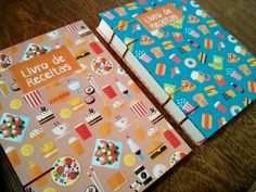 Recipes Notebook | Caderno de Receita | Costura Copta Etiope | by Fernanda Pasqualeto