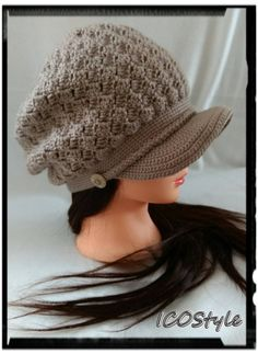 Women's Newsboy Hat / Women's Crochet Hat / Brimmed Beanie Hat / Fall Accessories / Winter Fashion / Women's Winter Hat / Crochet Winter Hat by ICOStyle on Etsy