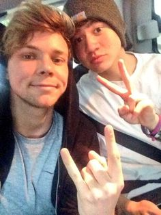 Ashton and Calum...my other boyfriends...they also don't know we are dating...shh