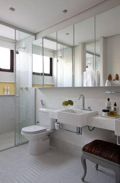 Casa de Vila : Banheiros modernos por CSDA Arquitetura e Interiores