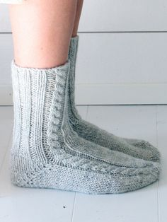 Nordic Yarns and Design since 1928 Knitted Slippers, Wool Socks, Knitting Socks, Hand Knitting, Knitting Patterns, Sexy Socks, Yarn Inspiration, Patterned Socks, Karen