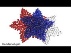 Brick Stitch Star: Presented by Beadaholic http://www.beadaholique.com/
