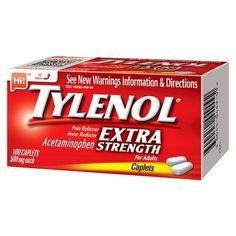 Tylenol Extra Strength Pain Reliever and Fever Reducer Caplets - Acetaminophen - Diy First Aid Kit, Online Cash, College Gifts, Seventh Grade, Shopping Coupons, Health Facts, Active Ingredient, Pain Relief, Helpful Hints