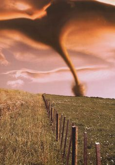Tornado On A Hill Extreme Weather 24x36 Poster