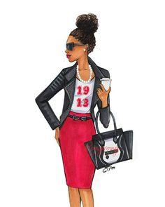 Delta Art, Delta Sigma Theta Gifts, Sisters Art, Sorority Sisters, Black Women Art, Black Art, Black Is Beautiful, Fashion Art, Emo Fashion
