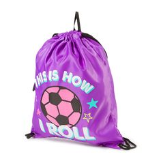 This Is How I Roll Soccer Drawstring Bag