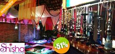 Shisha Bar & Lounge - $199 en lugar de $410 por 1 Shisha de la Casa + 1 Orden de Samosas + 2 Cantaritos + 2 Jello Shots para 2 Personas. Click: CupoCity.com