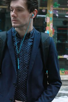 TheFashionJumper-canyon-#suit #clasy #blue #earpones Suits, Happy, Recipes, Blue, Fashion, Moda, Rezepte, Fasion, Wedding Suits