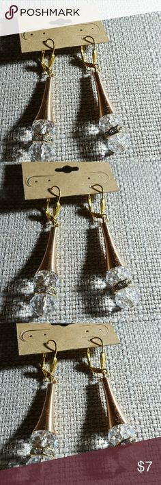 Celestial beads cone dangle earrings Celestial beads with rhinestones disk/cone  dangle earrings.   Surgical steel ear wires hypoallergenic.   Comes with free inspirational bookmarker quote. Jewelry Earrings