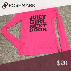 Like new Juicy Couture long sleeve shirt 💋 Juicy Girl Next Door hot pink ultra soft Juicy Couture long sleeve shirt.  Worn one time.  Like new! Juicy Couture Tops Tees - Long Sleeve