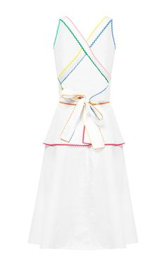 Embroidered Peplum Dress by Anna October | Moda Operandi