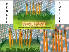 """Earth Day is April 22! Week's worth of activities for grades K-3. Teach responsibility for school tools, personal belongings, the environment, and the community. 2 products-""""Pencil Forest...""""and """"Penny Pencil........."""". Find these at www.teacherspayteachers.com/Store/Margo-Gentile"""