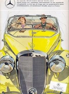 Poster Print-Mercedes Benz 170 poster sized print mm) made in the UK Mercedes Classic Cars, Mercedes Benz Cars, Vintage Advertisements, Vintage Ads, Vintage Posters, Volkswagen, Automobile, Auto Union, Auto Retro