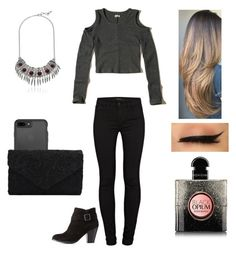 """""""MyStyle"""" by mimimoon95 on Polyvore featuring Hollister Co., J Brand, Charlotte Russe, Yves Saint Laurent and Lucky Brand"""