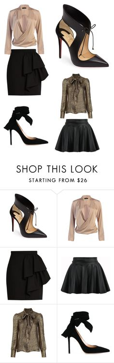 """Work or Night out"" by reyen on Polyvore featuring Christian Louboutin, Yves Saint Laurent, WithChic and Gianvito Rossi"