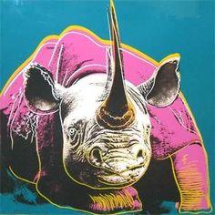 Warhol's Endangered Species Series:  Black Rhino