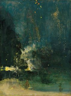 JAMES ABBOTT McNEILL WHISTLER,Nocturne in Black and Gold