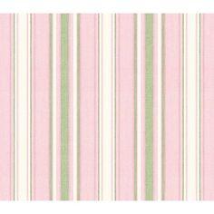 Baby Pink Sunny Stripe Wallpaper: Baby