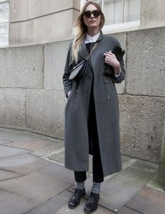 grey topper to die for. London. #LFW