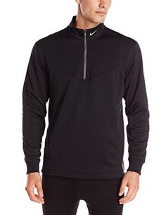 dcc3c954963953 Nike Golf Therma-FIT Cover-Up Jacket Long-sleeve pullover featuring  half-zip placket and standing collar with interior Nike golf neck tape  Side-entry hand ...