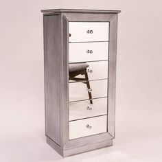 Product Image for Hives & Honey Mia Jewelry Armoire in Silver 3 out of 4