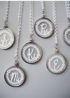 Initial monogram necklaces