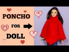 Knitting Patterns Poncho How to make a poncho for doll DIY For Dolls Poncho Sewing Barbie Clothes, Barbie Sewing Patterns, Sewing Dolls, Doll Clothes Patterns, Mini Barbie Dolls, Barbie Et Ken, Barbie Dress, Barbie Accessories, Diy Doll