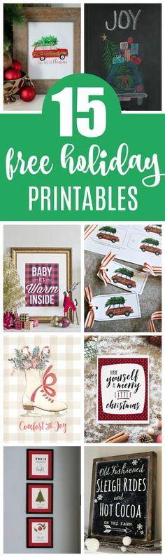 15 Free Christmas Printables on Pretty My Party #freeholidayprintables #freechristmasprintables #freeprintables